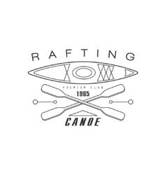 Rabting Canoe Club Emblem Design vector image vector image