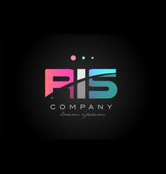 ris r i s three letter logo icon design vector image vector image