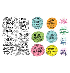 set of inspirational quotes thematic vector image vector image