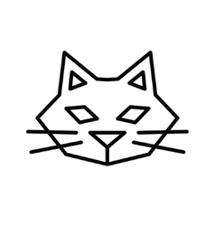 Simple cat outline icon vector