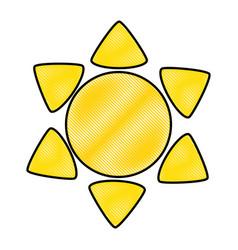 Sun weather symbol vector