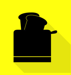Toaster simple sign black icon with flat style vector