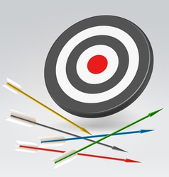 Unreachable archery target vector image vector image