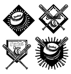 Vintage baseball emblem vector