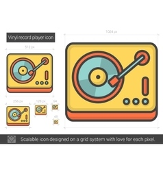 Vinyl record player line icon vector