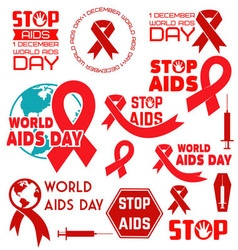 World aids day8 vector