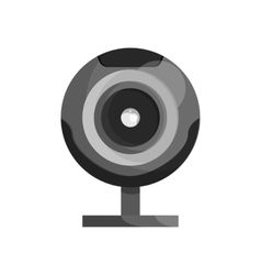 Webcam icon black monochrome style vector