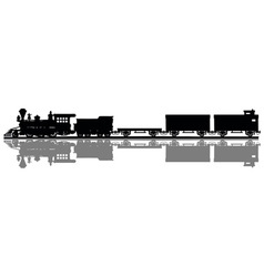 Vintage american steam train vector