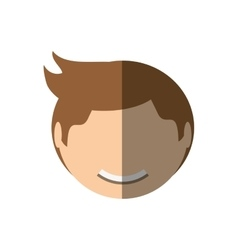 People face casual man icon image vector