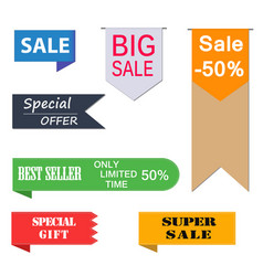 Set of price-tags vector