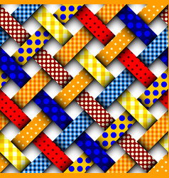 colorful interweaving patchwork vector image