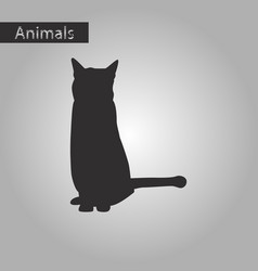 Black and white style icon of cat vector
