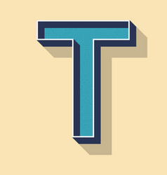 Letter t retro text style fonts concept vector