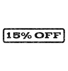 15 percent off watermark stamp vector