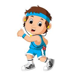 runner man cartoon vector image