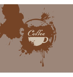 Coffee splash vector