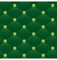 Vintage green leather pattern vector