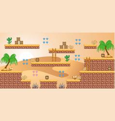 2d tileset platform game 29 vector