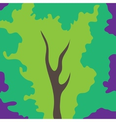 Abstract art tree green color vector