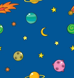 Cartoon space pattern vector