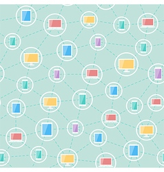Social network devices pattern vector