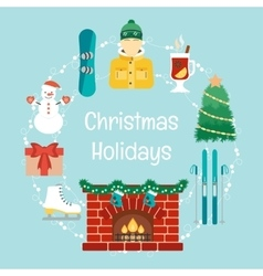 Christmas holidays winter holidays christmas and vector