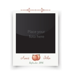 Retro wedding greeting cards template for photo vector