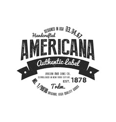 Vintage logo american authentic company vector