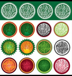 Abstract decorative organic design stamps vector