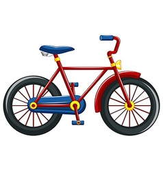 Bicycle with red frame vector