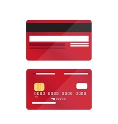 Credit card close-up isolated vector