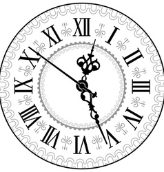 Antique clock vector