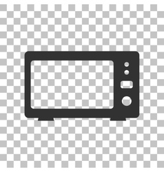 Microwave sign  dark gray icon on vector