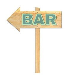 Beach bar sign vector