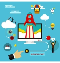 Business start up concept flat vector