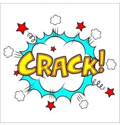 Crack sound effect vector image