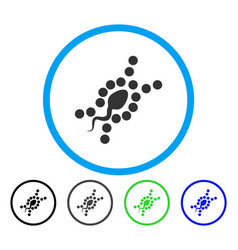 dna replication rounded icon vector image vector image