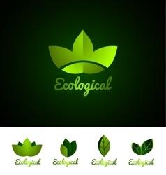 Ecological leaf logo set icon design vector