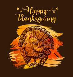 Hand drawn sketch turkey natural turkey vector