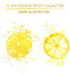 Hand drawn watercolor lemons vector