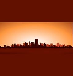 heat city vector image vector image