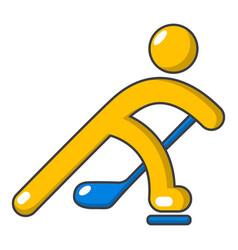 Hockey player icon cartoon style vector