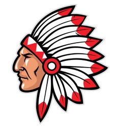 indian head mascot vector image vector image