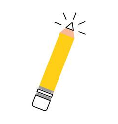 Pencil school isolated icon vector
