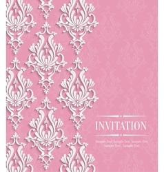 Pink 3d vintage background for greeting or vector