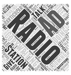 Radio adwriting word cloud concept vector