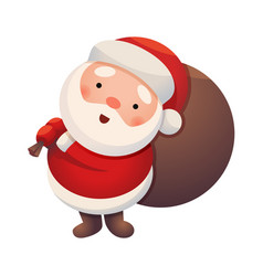 santa claus on white background sticker jolly vector image