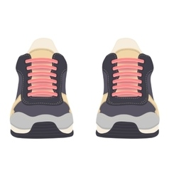 Sneakers isolated on white background vector image