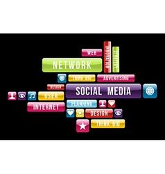 Social media internet cloud vector image vector image