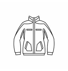 Men winter jacket icon outline style vector